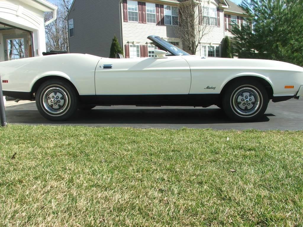 My 1973 Wimbledon White Mustang Convertible After First Repaint DSCF8167