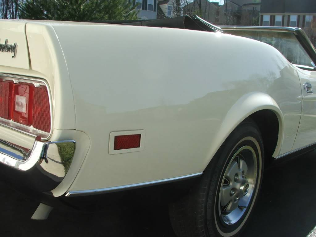 My 1973 Wimbledon White Mustang Convertible After First Repaint DSCF8172