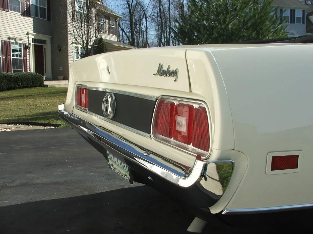 My 1973 Wimbledon White Mustang Convertible After First Repaint DSCF8174