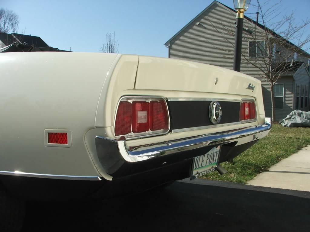 My 1973 Wimbledon White Mustang Convertible After First Repaint DSCF8180