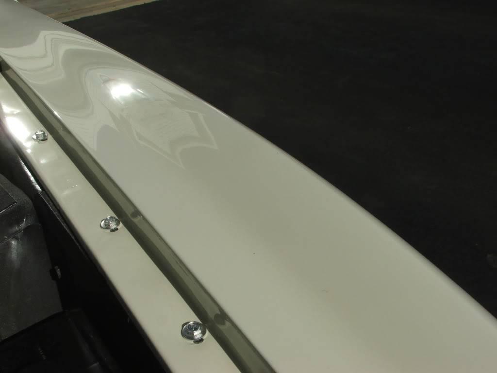 My 1973 Wimbledon White Mustang Convertible After First Repaint DSCF8202