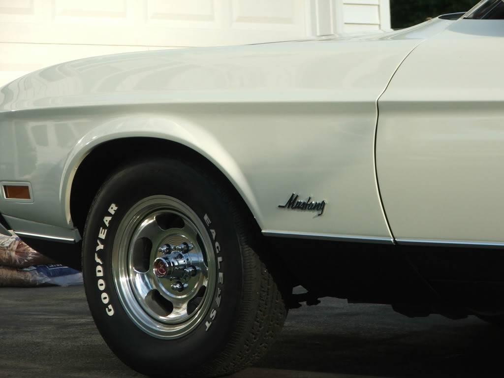 My 1973 Wimbledon White Mustang Convertible After First Repaint DSCF9278