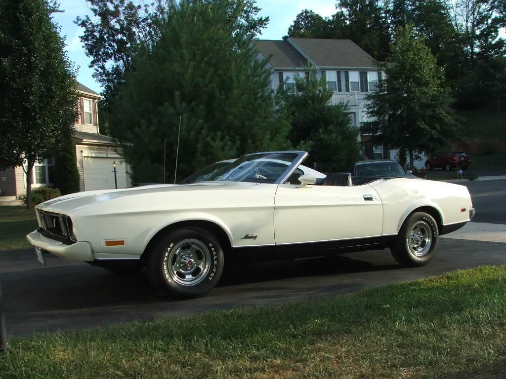 My 1973 Wimbledon White Mustang Convertible After First Repaint DSCF9279