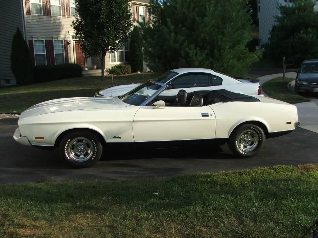 My 1973 Wimbledon White Mustang Convertible After First Repaint DSCF9281