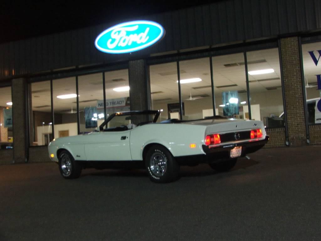 My 1973 Wimbledon White Mustang Convertible After First Repaint DSCF9286