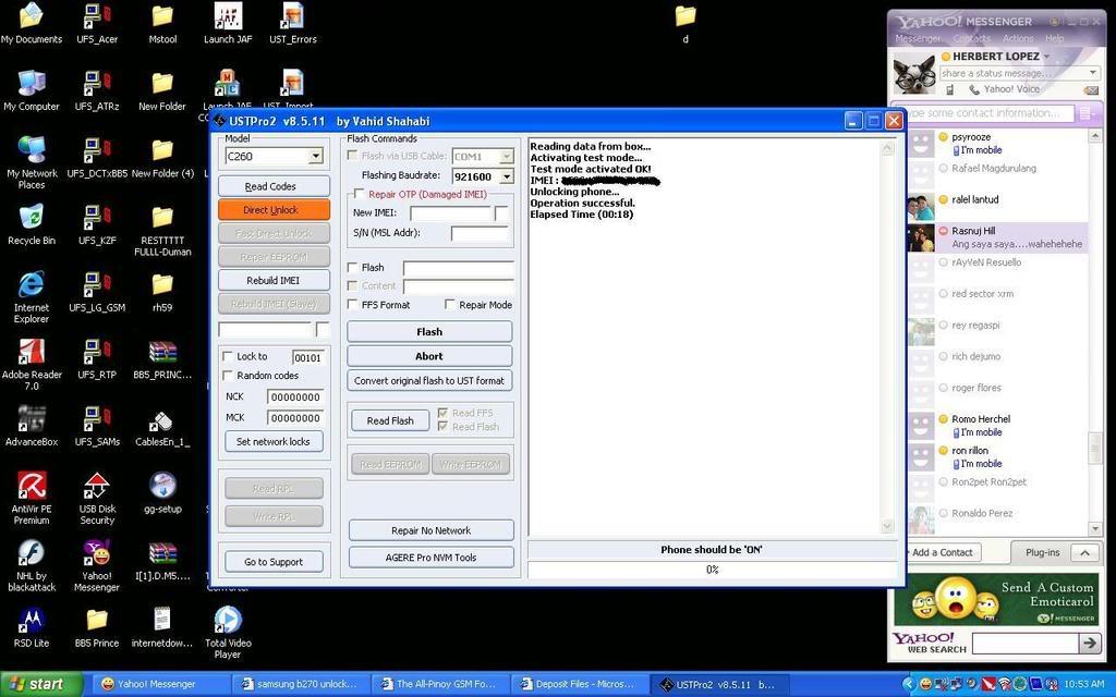 Samsung sgh-B270 unlock done sa Ust Pro2 1