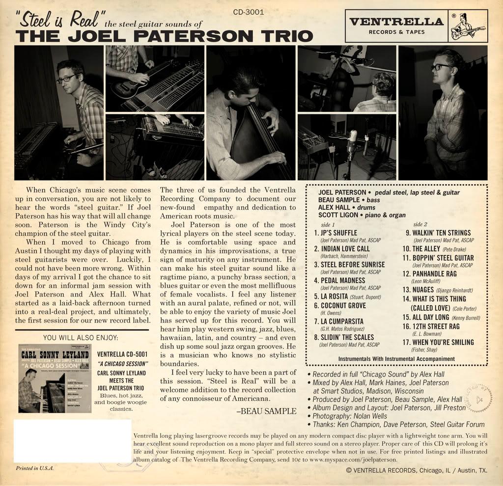Joel Paterson Steelisrealback