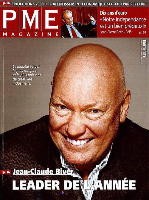 Actu : Jean-Claude Biver Leader de l'année 2008 dans PME Magazine BiverPME