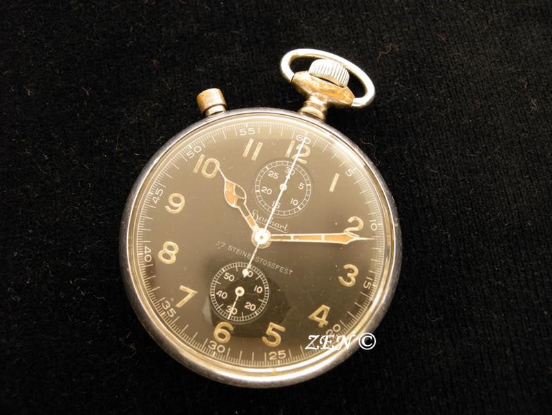 Hanhart un chrono militaire de poche avec un calibre de montre bracelet  Hanhartchrono
