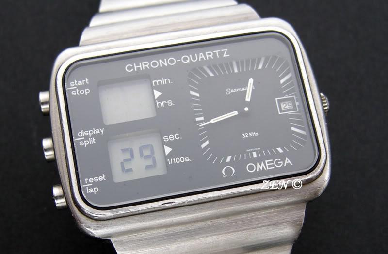 citizen - LE FIL ELECTRIQUE – LCD, Diapason, LED, Quartz, piles... à l'heure ! OmegaChronoquartzface2-1