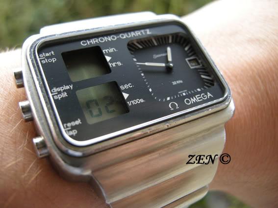 citizen - LE FIL ELECTRIQUE – LCD, Diapason, LED, Quartz, piles... à l'heure ! OmegaChronoquartzfaceaupoignet-1