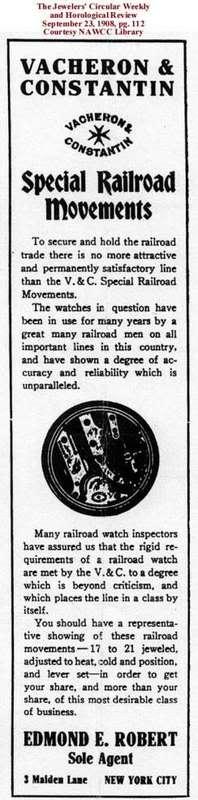 L'histoire des montres de chemins de fers Vachronrailroads