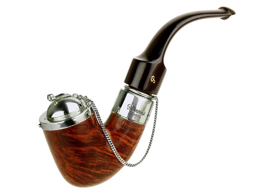 My personal pipes with custom hand made sterling silver. Peterson%20Bent%20Pot%20With%20Fancy%20Removeable%20Wind%20Cap%2001_zpsxv1dyor8
