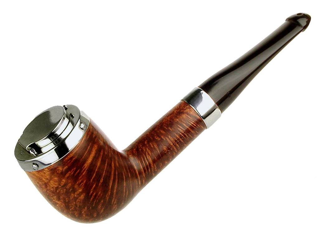 My personal pipes with custom hand made sterling silver. Peterson%20Billiard%20With%20Wind%20Screen_zpsccttuqua