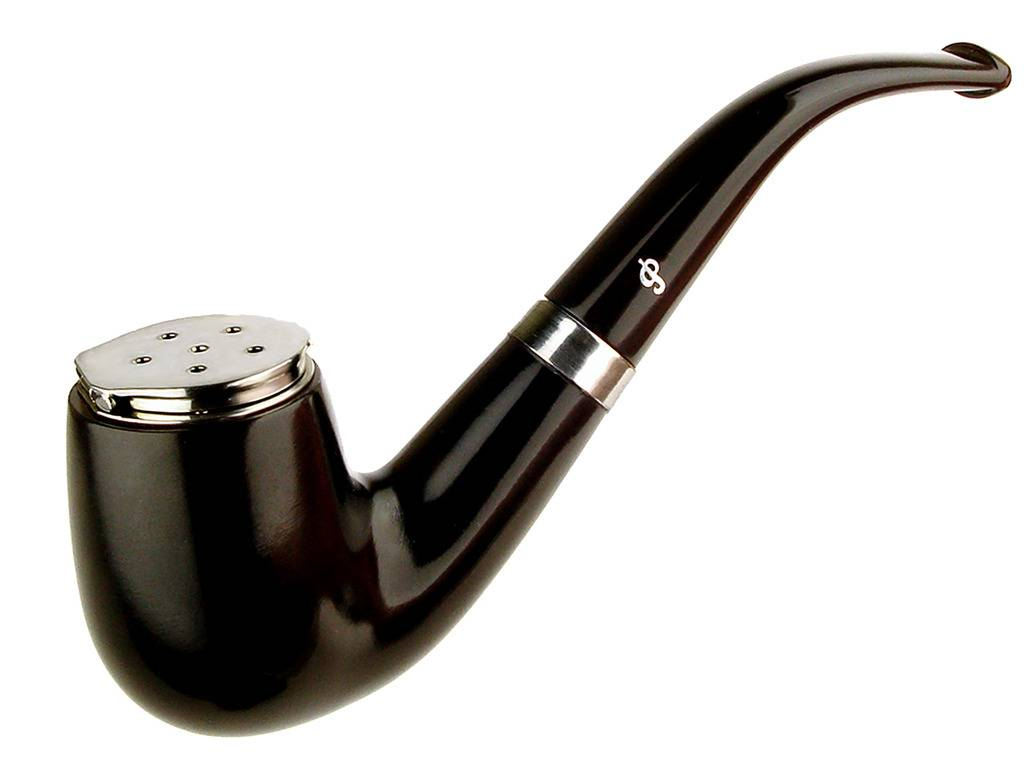 My personal pipes with custom hand made sterling silver. Peterson%20Ebony%20With%20Wind%20Screen%2001_zpsdbohmnbx