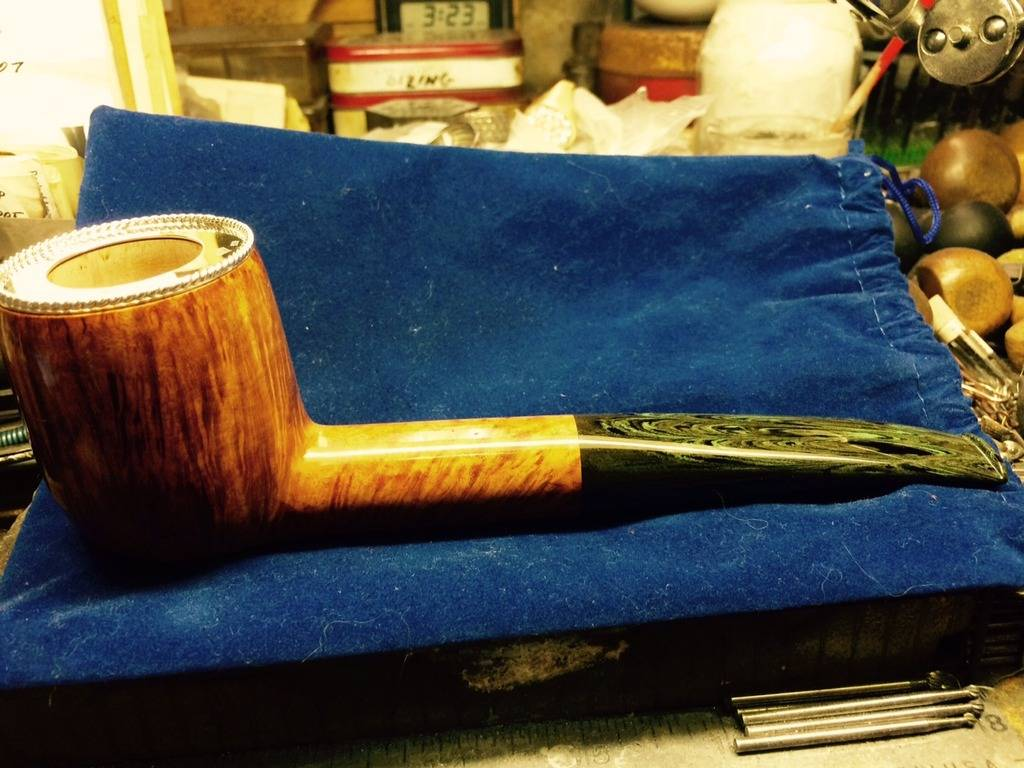 My personal pipes with custom hand made sterling silver. Silver%20Rim%20Guard%20Todd%20Harris%20Full%20Pipe%201_zpst00gxcb0