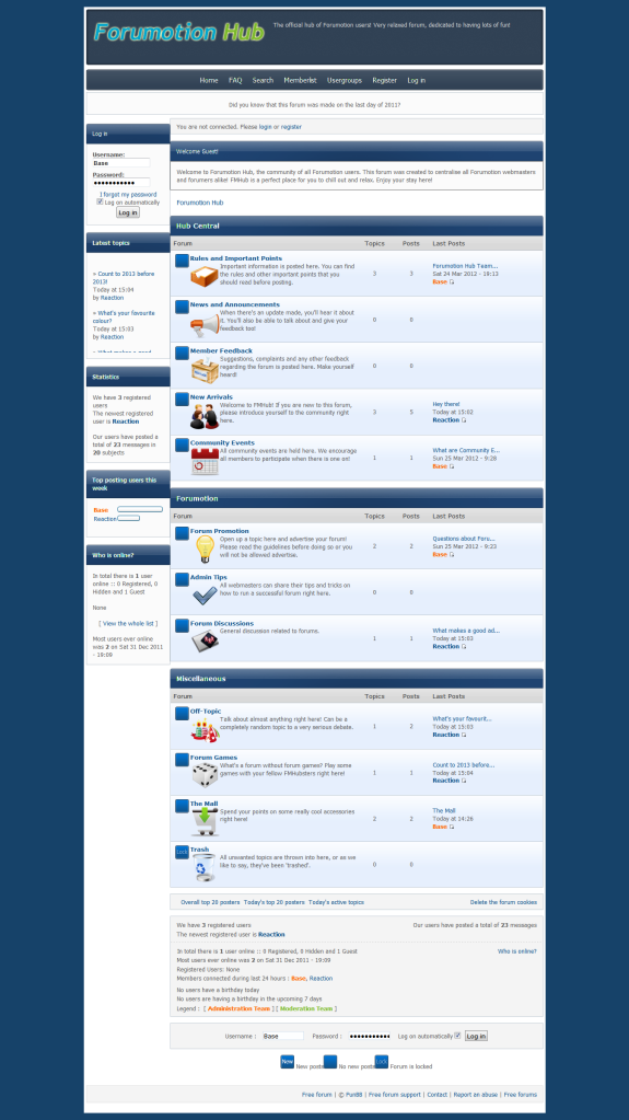 Forumotion Hub - Community of Forumotion Users ForumotionHub-CommunityofForumotionUsers2012-04-0315-22-30