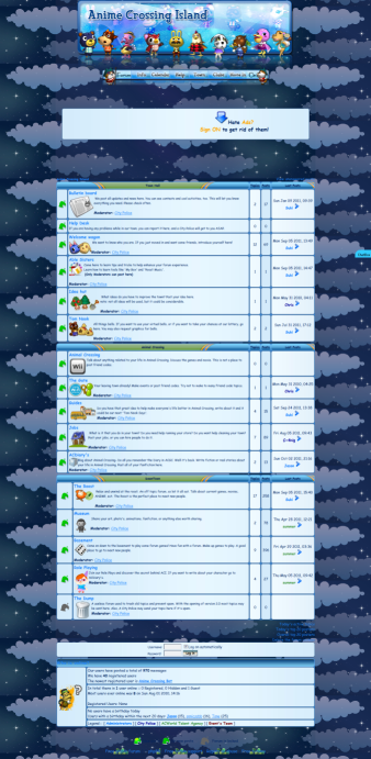 Make area around forum an image Acisland