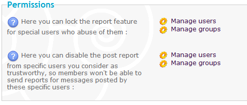 The Report System Reportpermissions