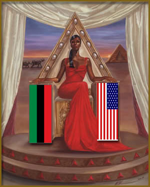 The United States of the Solar System, A.D. 2133 (Book Six) African-queen-with-flags
