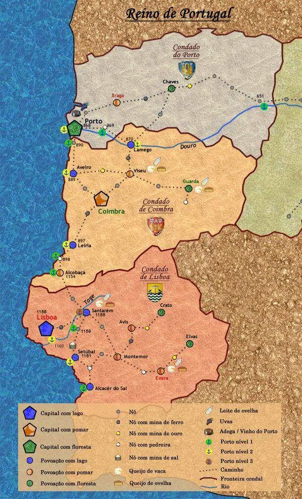 [Cartografia][1459] Reino de Portugal Mapa1459por