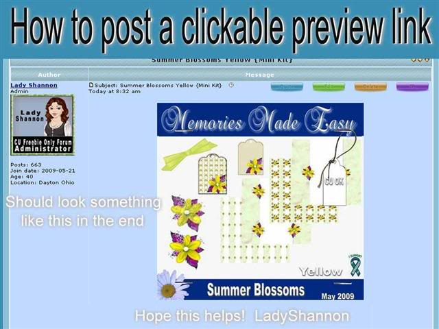 How to post a clickable preview link HowTo_12-3