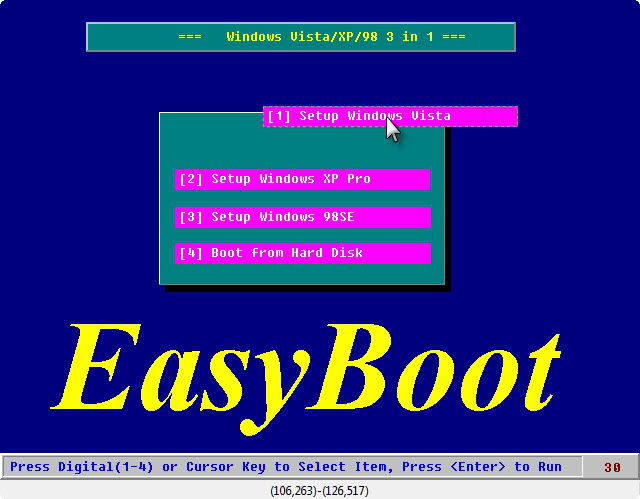 Tạo boot 3 trong 1 (Setup Windows 7, Setup Windows XP & Hiren's Boot) 12-14-20091-26-08PM