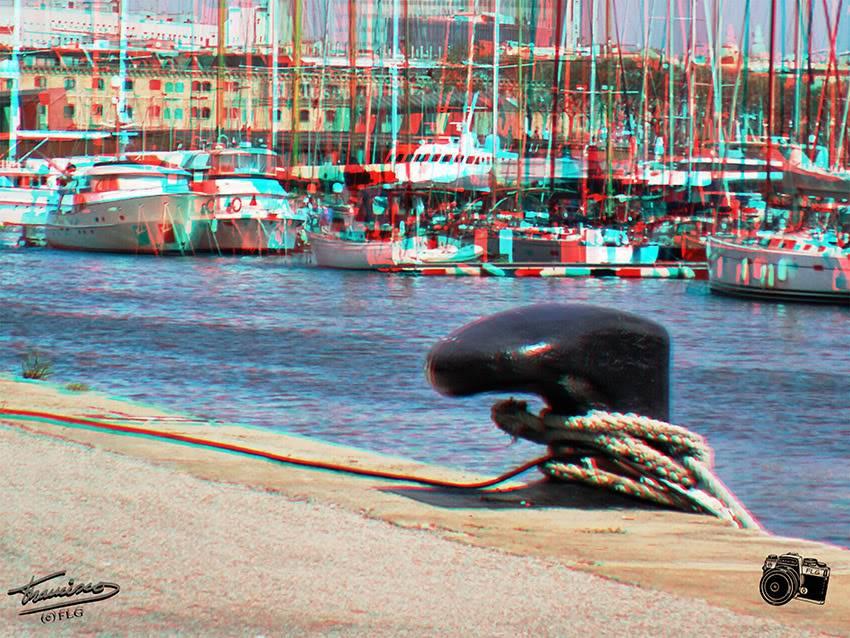 Amarre.Puerto de Barna. Anaglifo KDDMANIACOS_037ANA2reduc