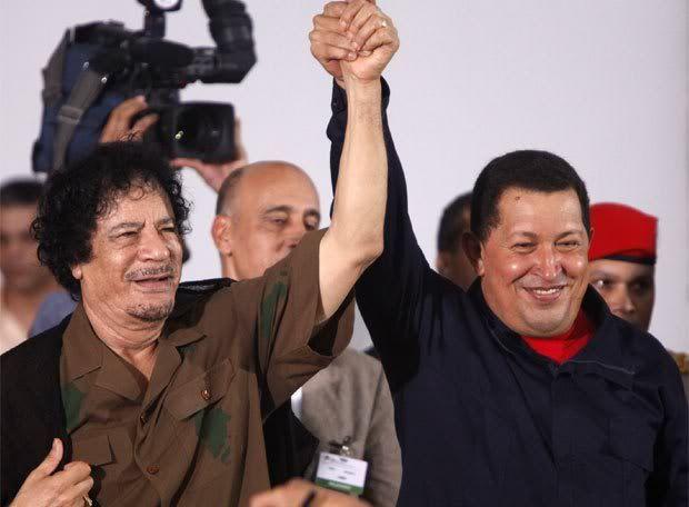 Conflicto en Libia Gaddafi_Chavez_unidos