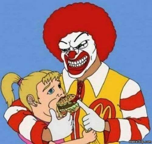 What would you say if you woke up to this, or seen it? o.0 Mcdonalds_Is_Evil