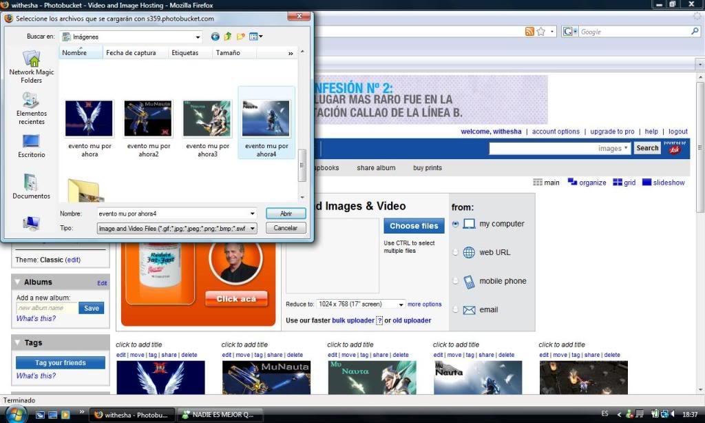 GUIA para subir imagenes al foro Guia1