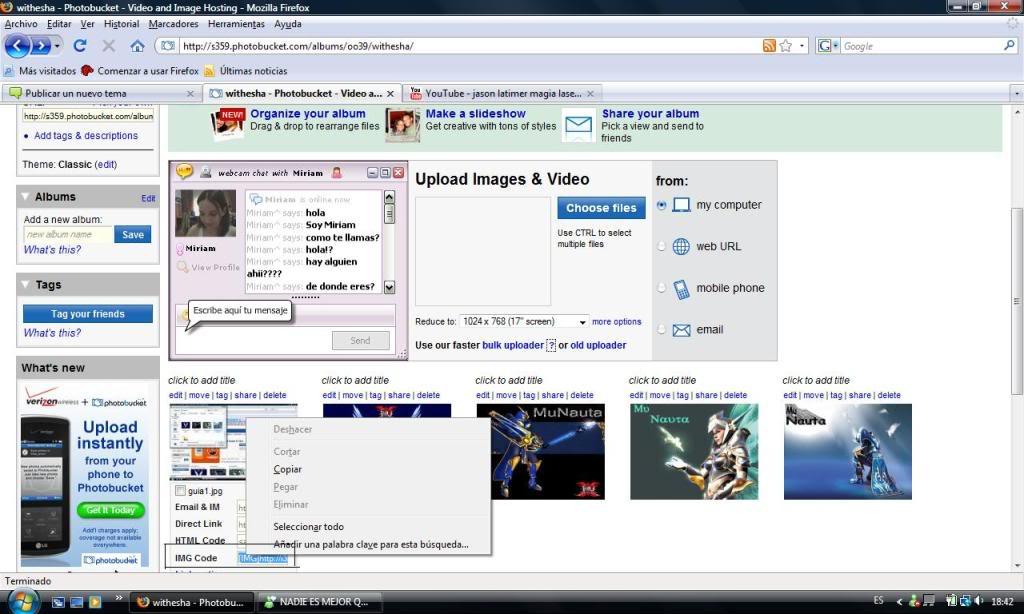 GUIA para subir imagenes al foro Guia2