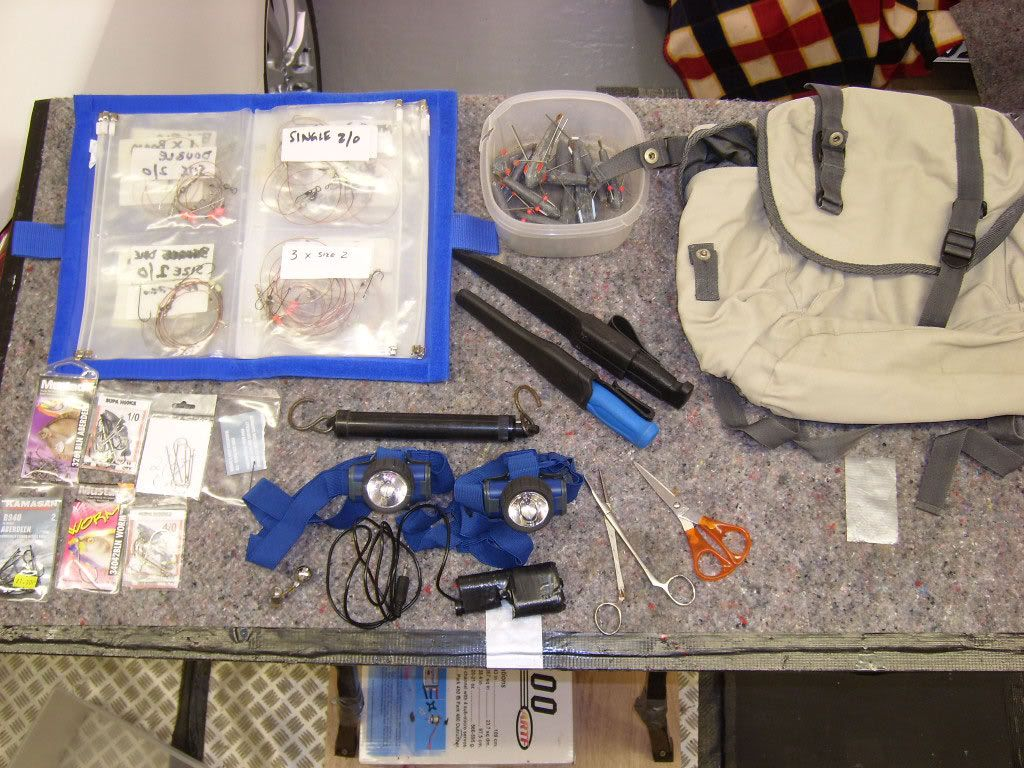 Fishing equipment Box-2-wallet-knife-etc