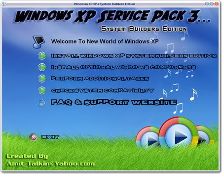 Windows XP service pack 3 system builders edition WindowsSP3
