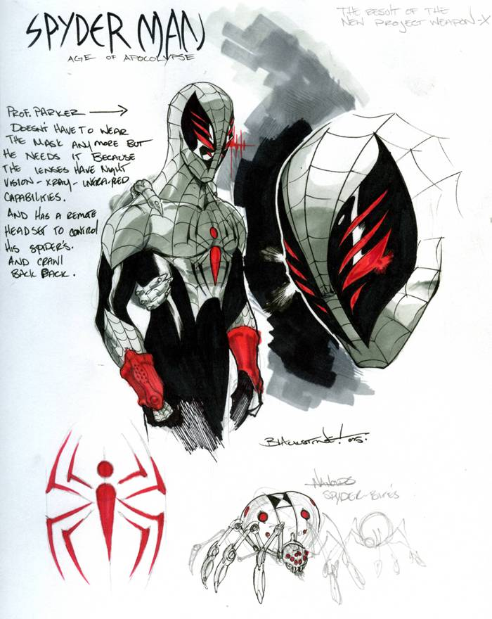 Neil Woodhull the Silver Spider Done Rise_of_apocalypse__spiderman_by_joeblackstone_zpscec0a358