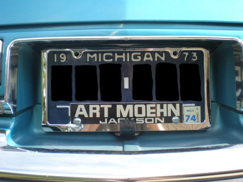 Original dealer license plate frame. P7160003