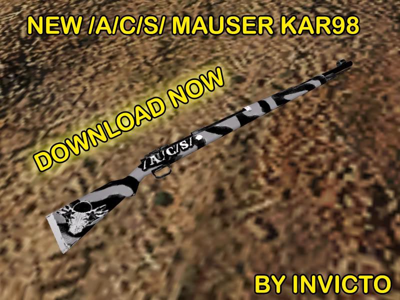 NEW /A/C/S/ Mauser Kar98 - Team: Axis !!! KAR98