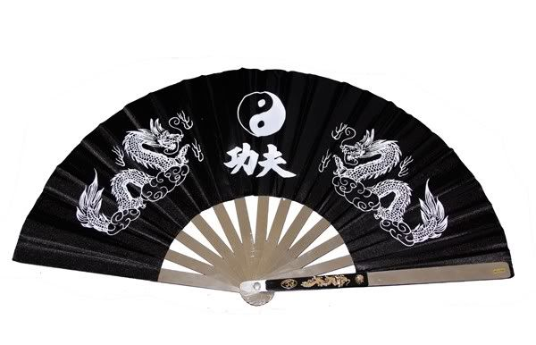 Fans, Dancing Dragons Fan-Dragon-Black-BIG