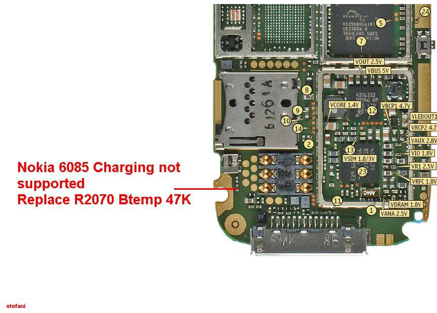 Charging Not Supported..... And.....Not Charging 100% Solution Nokia6085_6086Chargingnotsupported