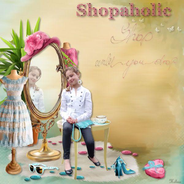shopaholic Voorbeeldlesjeshopaholic