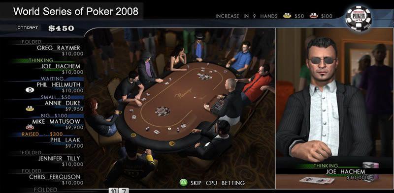 World Series of Poker 2008 Battle for the Bracelets Screen2