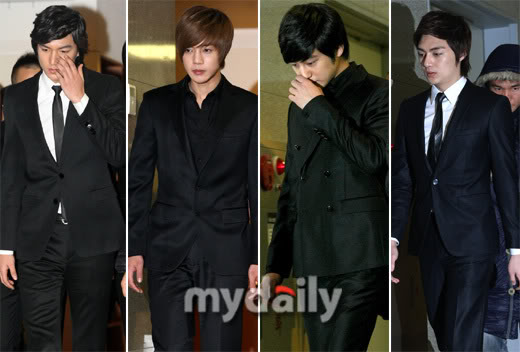 Boys over flowers at jang je yeon's wake 200903080823491118_1