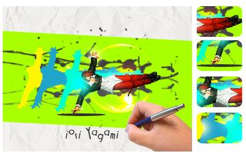 Splatter Colors! IoriYagami