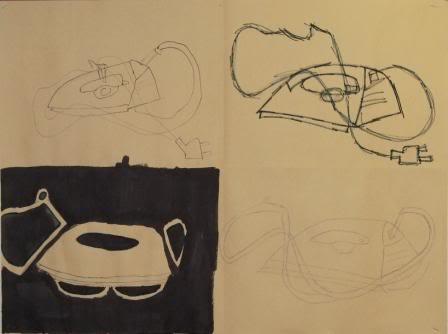 Blind, Gesture, Negative, Controlled drawing - Grade 9 DOOLEYRACHEL-1