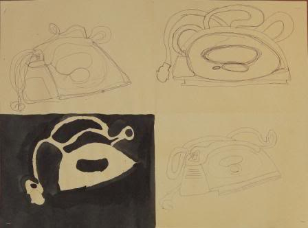 Blind, Gesture, Negative, Controlled drawing - Grade 9 HATUONGVY-1