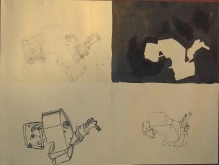 Blind, Gesture, Negative, Controlled drawing - Grade 9 JINHAIN-1