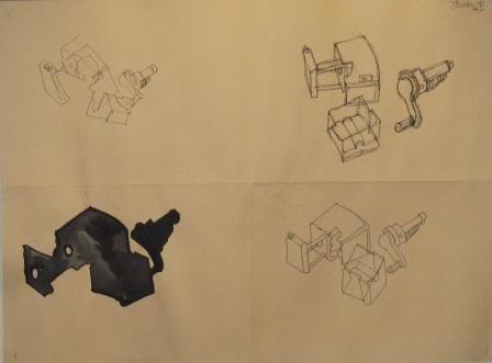 Blind, Gesture, Negative, Controlled drawing - Grade 9 LEDIEP-1