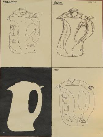 Blind, Gesture, Negative, Controlled drawing - Grade 9 LIMLEONARA-1