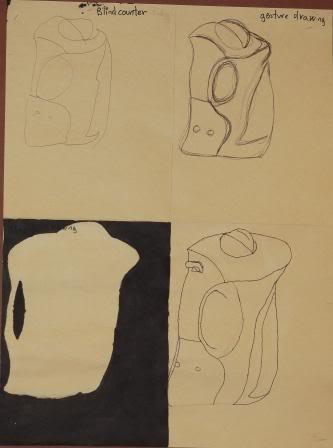 Blind, Gesture, Negative, Controlled drawing - Grade 9 LOORAMTADHG