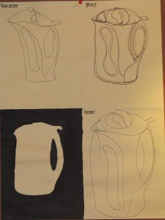 Blind, Gesture, Negative, Controlled drawing - Grade 9 PHAMTRAMY-1
